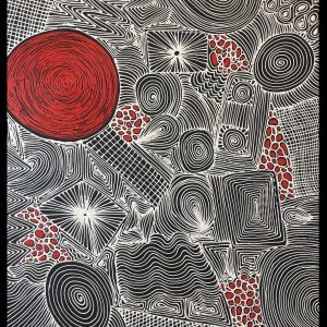 Fire and Rain 1240mm x 1430mm